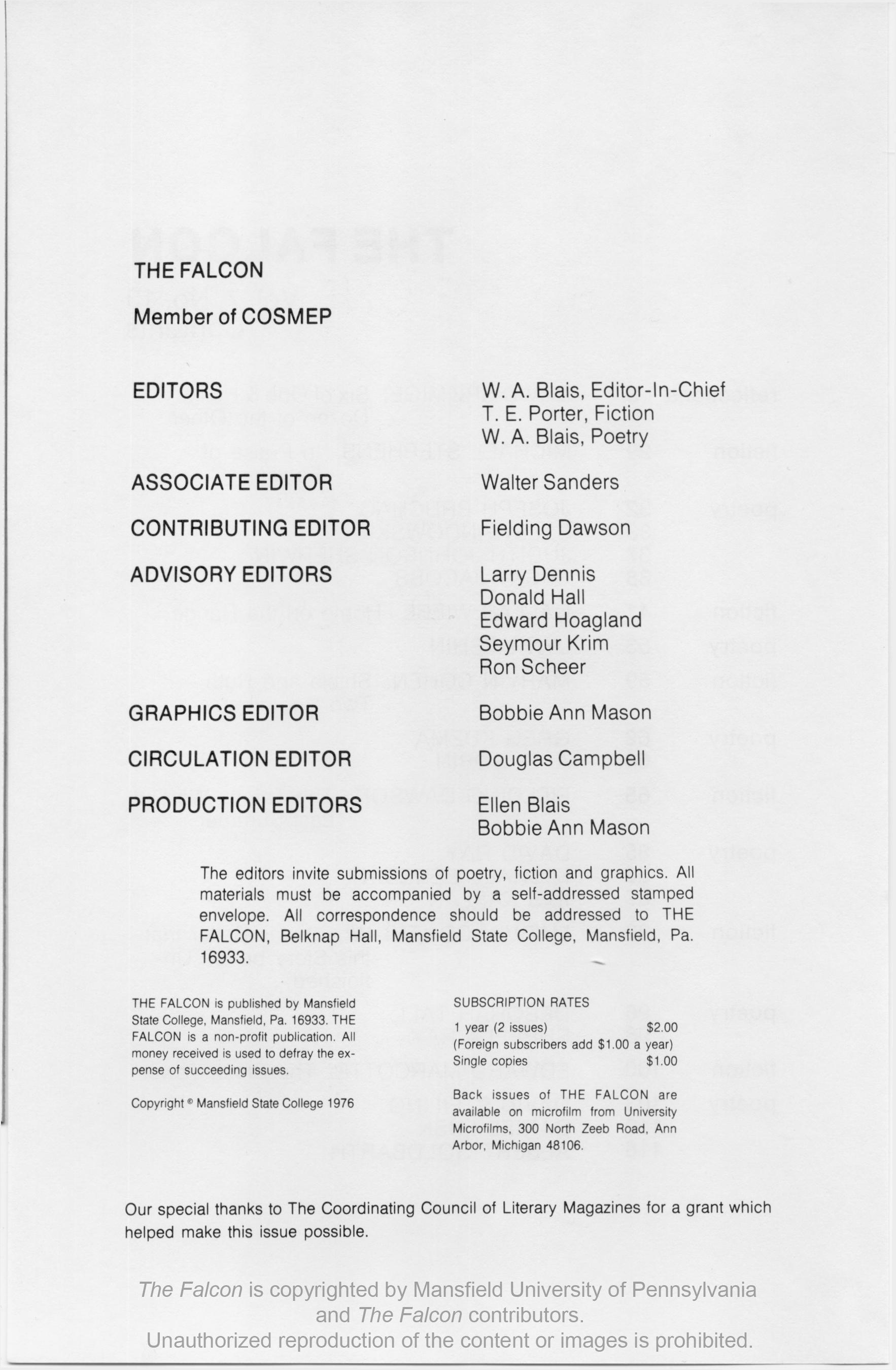 The Falcon Issue 13 The Falcon